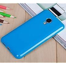 Prevoa ® 丨 MEIZU M1 NOTE Funda - Silicona TPU Funda Cover Case para MEIZU M1 NOTE 5.5 Pulgadas Smartphone - AZUL