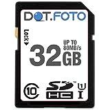 Dot.Foto 32Gb SDHC Alta Velocidad 80MB/s Clase 10 UHS-1 Tarjeta de Memoria para Fujifilm FinePix S cámaras [Vea compatibilidad en la descripción]