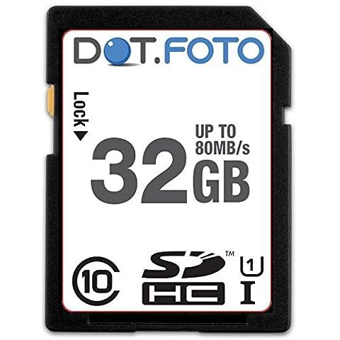 Dot.Foto - 32 Go Carte mémoire SDHC Classe 10 UHS-1