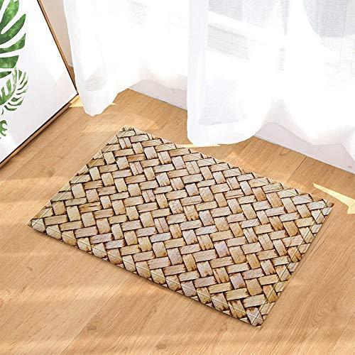 HTSJYJYT Decoración Madera Un Pedazo alfombras bambú