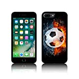 TPU Silicone FOOTBALL in Fire & Water Case for Apple IPHONE TPU (iPhone 5C, Noir)