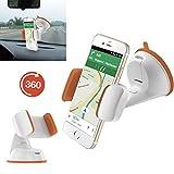 Handy / Smartphone halterung | für ALDI Medion Life E4506 | Auto halter | Büro Halter | Multifunktional | AUT-Orange