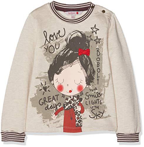 boboli Fleece Sweatshirt For Baby Girl, Sudadera para Bebés, Gris (Piedra Vigoré 7329), 74 (Tamaño del Fabricante:9M)