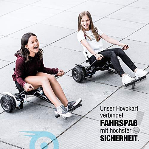 Bluewheel Hovokart HK200 Sitz Erweiterung für 6, 5 – 10 Zoll Hoverboard, E-Kart, Elektro Go-Kart, Sitzaufsatz, Schalensitz & Umbausatz, anpassbarer Stahl-Rahmen - 3