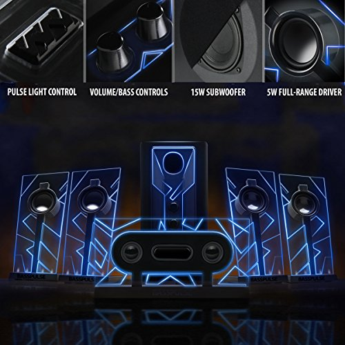 BassPULSE-51-Surround-Sound-Computer-Speakers-with-Powered-Subwoofer-80-Watts-and-Blue-LED-Glow-Lights-by-GOgroove-Works-with-Desktop-Laptop-PC-and-more-Multimedia-Devices