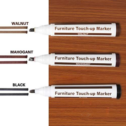 AMhomely® 3Stück Holz Möbel Reparatur Stift Marker Stift Wachs Kratzer Füller Entferner Reparatur Fix Hauptboden kratzt Lackreparaturstift-Farbstift (3PC dunkle Farbe) -