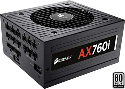 Corsair AX760 Alimentatore PC, Completamente Modulare, 80 Plus Platinum, 760 W, EU