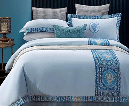 KKVV Bettwäsche eine vierköpfige Familie Bestickte Baumwolle doppelte Bettdecke Deckblätter , , 220*240