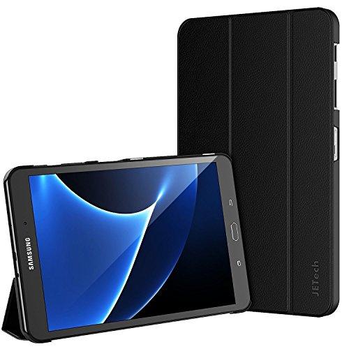 JETech Hülle für Samsung Galaxy Tab A 10,1 (T580/T585) Schutzhülle Tasche mit Standfunktion und Auto Schlaf / Wach Funktion, Schwarz (Samsung Tablet Tasche Für Auto)