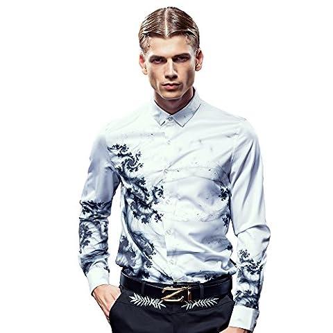 FANZHUAN Chemise Homme Blanche Chemise Fashion Homme Chemise Homme De Luxe Nouveauté