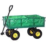Jalano Handwagen Bollerwagen Plane Gartenwagen grün Handkarre 500 kg