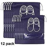 ❤Descrizione del prodotto: Denominazione del prodotto: borsa per scarpe Quantità: 12 Colore: blu scuro Materiale: Tessuto non tessuto Dimensioni: 6PCS (L) (36,5 cm * 27 cm) + 6 PZ (XL) (43 cm * 29 cm) ❤Caratteristiche: Ideale per uso domestic...