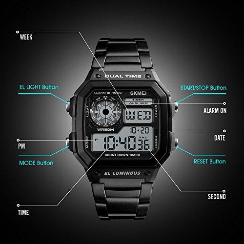funciones de un reloj skmei