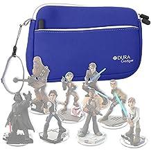 DURAGADGET Funda Protectora Azul Para Disney Infinity 3.0 - Star Wars - Neopreno De Alta Calidad - Con Bolsillo Externo + Cuerda De Transporte