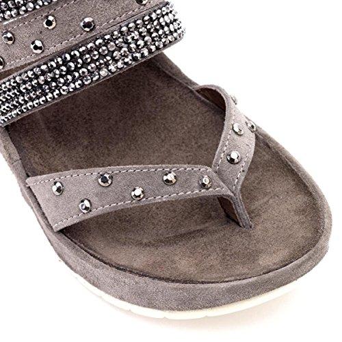 sandalen Damen 2011 Wedge Hd612 Cafènoir Cenere E15 qtxXddvwR