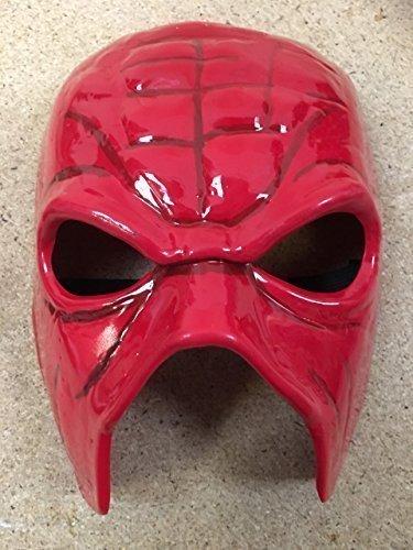M HELL NO Maske rot Kostüm geschnürt WWE Kostüm Outfit Zubehör - Hart Plastik mit Gummiband (Wwe Kane Kostüm)