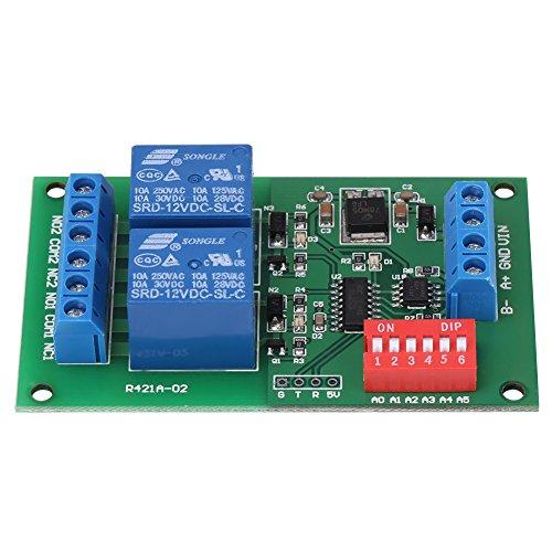 2 Chanel RS485-Relaiskarte DC 12V RTU- und AT-Befehls-SPS-Controller UART Serial Port Switch