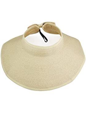 Sombrero de paja de borde ancho VISKEY Fashion Girl Lady, para la playa, sol, visera plegable