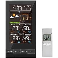Protmex Estación meteorológica, Inalámbrico Color Forecast Station Despertador con temperatura, humedad y barómetro
