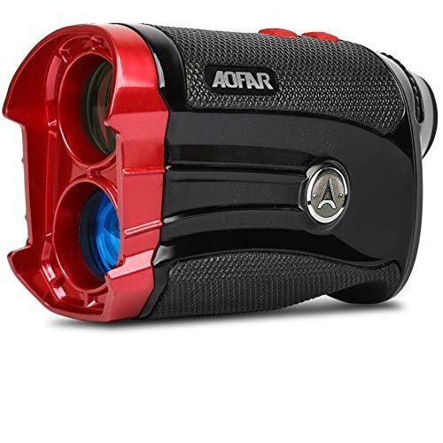 AOFAR G2 Telémetro de Golf con inclinación 600 Yardas Láser Buscador de Rango 6x25mm Impermeable, Vibración de Pulso, Estuche portátil, Batería Gratis, Embalaje de Regalo