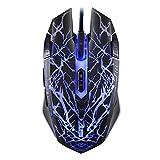 BlueBeach® 2500 DPI professionnel stress-soulager Gaming Mouse avec 4 Mode DPI et 9 boutons programmables (jusqu'à 6000 DPI par le lecteur CD) - USB filaire pour PC portable Ordinateur portable