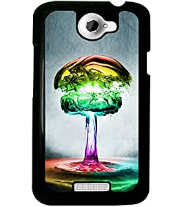 ColourCraft Creative Colourful Design Back Case Cover for HTC ONE X