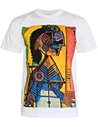 PALLAS Men's Pable Picasso Art Print T Shirt -PA276