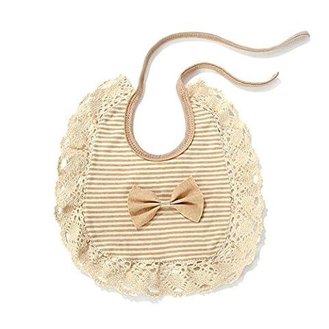 Bavoir bébés Fashion Lace Bibs Cute Organic Cotton Bib For Boys Girls Infant Saliva Towels Baby Accessories Comfort Baby Clothing