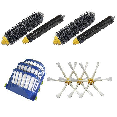 Cambio per iRobot 3 Aero Vac Filter & 2 pennelli di setola e 2 Flexible Beater Brush & 3 6 spazzola laterale armati kit pack Rifornimento Roomba 600 Series (620.630.650.660) Vacuum Robot Nuovo