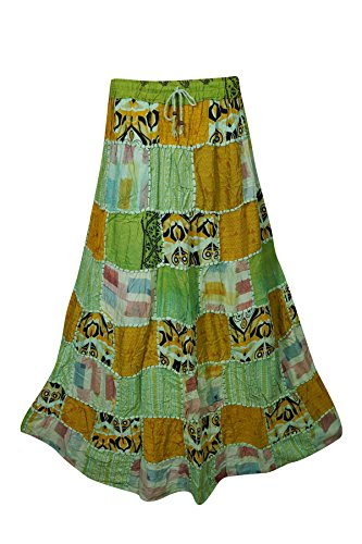 Boho Chic Designs -  Gonna  - linea ad a - Donna Green-1