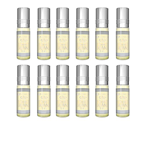 Prime echtem Rosenöl Öl Parfüm Duft alkoholfrei Halal 6-ml Top Qualität 6ml x 12PCS (12Stück) (secret-man)