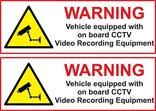2-x-vehicle-on-board-cctv-dash-cam-video-camera-van-truck-car-sticker-15cm
