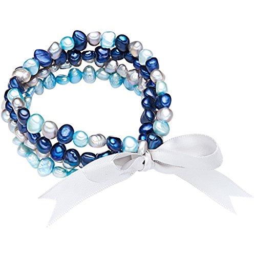 Valero Pearls Classic Collection Damen-Armband Hochwertige Süßwasser-Zuchtperlen