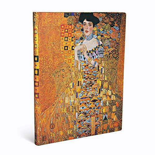 Paperblanks Diari a Copertina Rigida Centenario di Klimt - Ritratto di Adele | Righe | Ultra (180 × 230 mm)