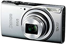 Canon IXUS 275 HS 20.2 MP Point and Shoot Camera (Silver) with 12x Optical Zoom, Memory Card and Camera Case