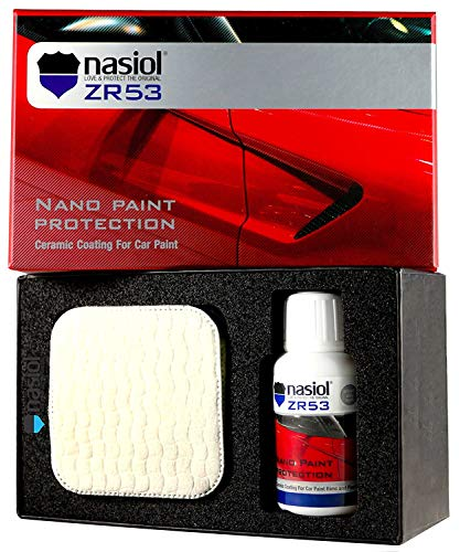 NASIOL LOVE & PROTECT THE ORIGINAL ZR53 Car Ceramic Coating Nano 9h Paint Protection Sealant 50 ml. Kit (Paint Auto Kit)