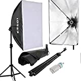 ESDDI Softbox Fotografici Luce Continuo Studio Portatile Kit per Ritratti Foto Moda Fashion Pubblicità di Prodotti e Video - ESDDI - amazon.it