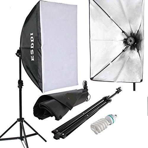ESDDI Softbox Fotografici Luce Continuo Studio Portatile Kit per Ritratti Foto Moda Fashion Pubblicità di Prodotti e Video