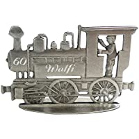 Lokomotive mit Gravur patiniert aus Zinn als stehende Figur mit Ihrer Wunschgravur (siehe Details) Eisenbahn mit Gravur, Lokomotive Modell, Eisenbahn Figuren, Lokomotive Figuren