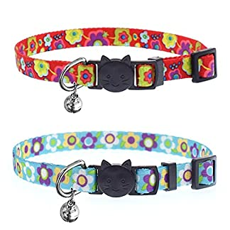abisedrin cat collar with bells and safety quick release buckle│adjustable and suitable buckle cat collar for domestic cats (red & blue) ABIsedrin Cat Collar with Bells and Safety Quick Release Buckle│Adjustable and Suitable Buckle Cat Collar for Domestic Cats (Red & Blue) 51n GZYyKgL