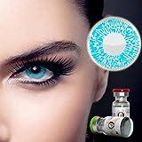 Farbige Jahres-Kontaktlinsen Blau 1 Tone - MIT und OHNE Stärke Blau - von Eyes4You - ohne Stärke (+/- 0.00 DPT)