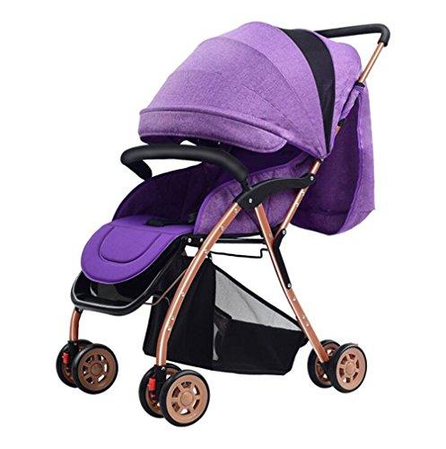 Sitze Kinderwagen Liegewagen Reise-Systeme,Purple (Schritt 2 Blaue Wagen)