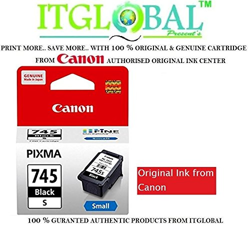 Original Canon 745 Small Black Ink Cartridge PG 745 s  available at amazon for Rs.566