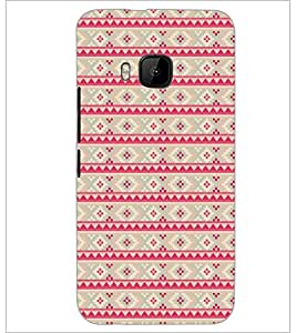 PrintDhaba Pattern D-5112 Back Case Cover for HTC ONE M9 (Multi-Coloured)