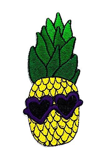 rabana grün gelb Ananas Fantasy Cartoon Kids Kinder Cute Animal Patch für Heimwerker-Applikation Eisen auf Patch T Shirt Patch Sew Iron on gesticktes Badge Schild (Kostüm Diy Ananas)