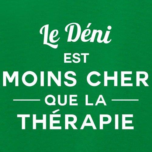 Le Déni est moins cher que la thérapie - Femme T-Shirt - 14 couleur Vert