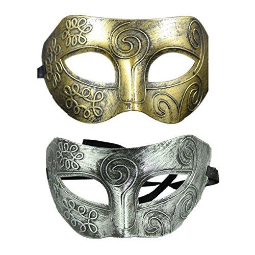 VEMOW Heißer Mode Retro Römischer Gladiator Halloween Party Gesichtsmaskerade Maske - Silber(Silber, Approx 20 * 16cm)