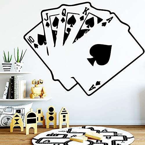Interessante Spielkarten Tapete Haus Dekoration Vinyl Wandaufkleber Für Baby Kinderzimmer Dekor Wandbild Poster 42X54CM (Spielkarten Waffen)