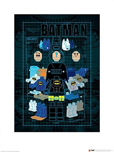 1art1 102992 The Lego Batman Movie - Wähle Dein Kostüm Poster Kunstdruck 80 x 60 cm (Lego Batman Und Robin Kostüm)
