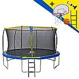 STARFLEX Trampoline Jump Power avec echelle et Panier de Basket